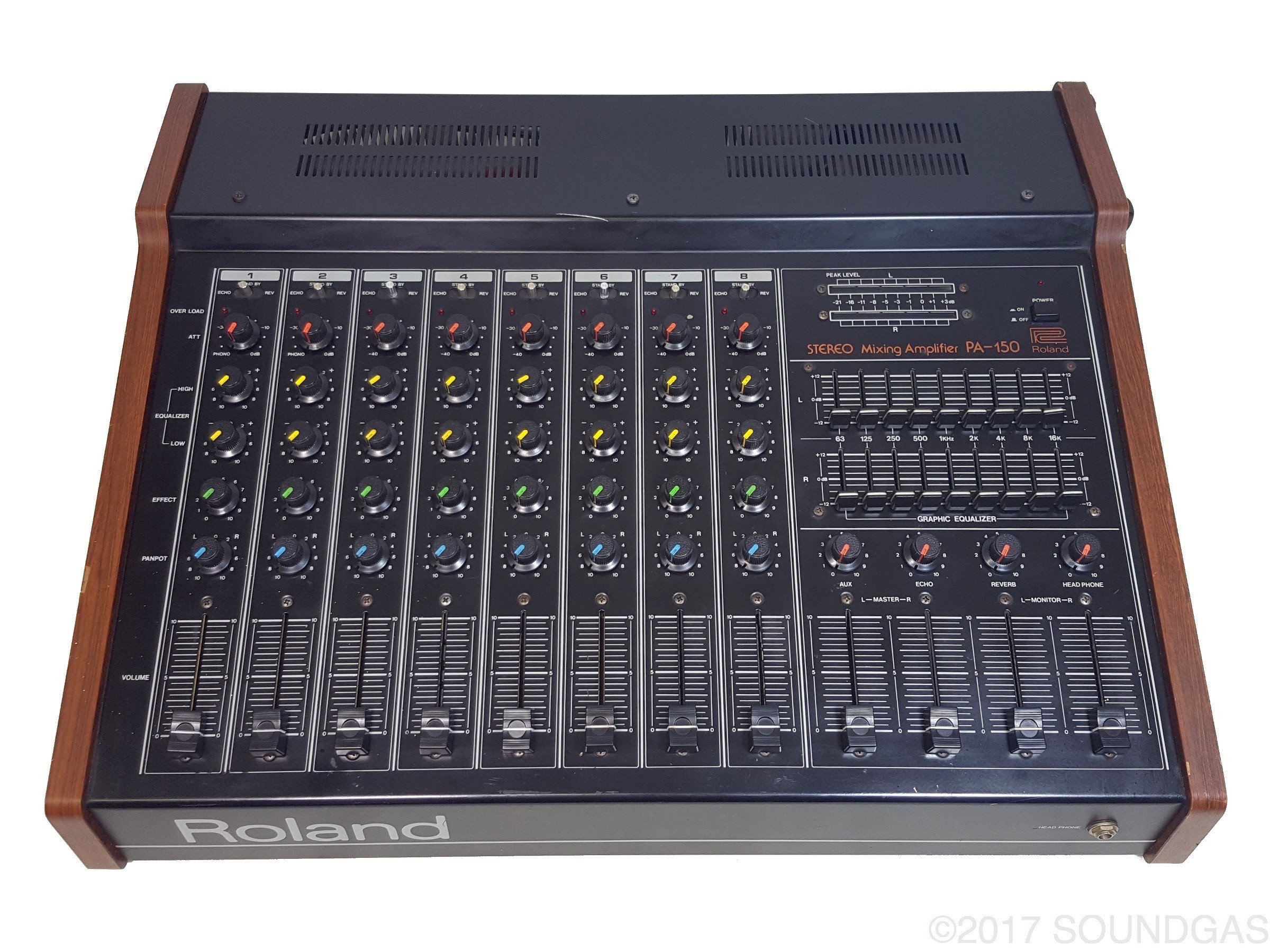 Roland PA-150 Stereo Mixer with Spring Reverb