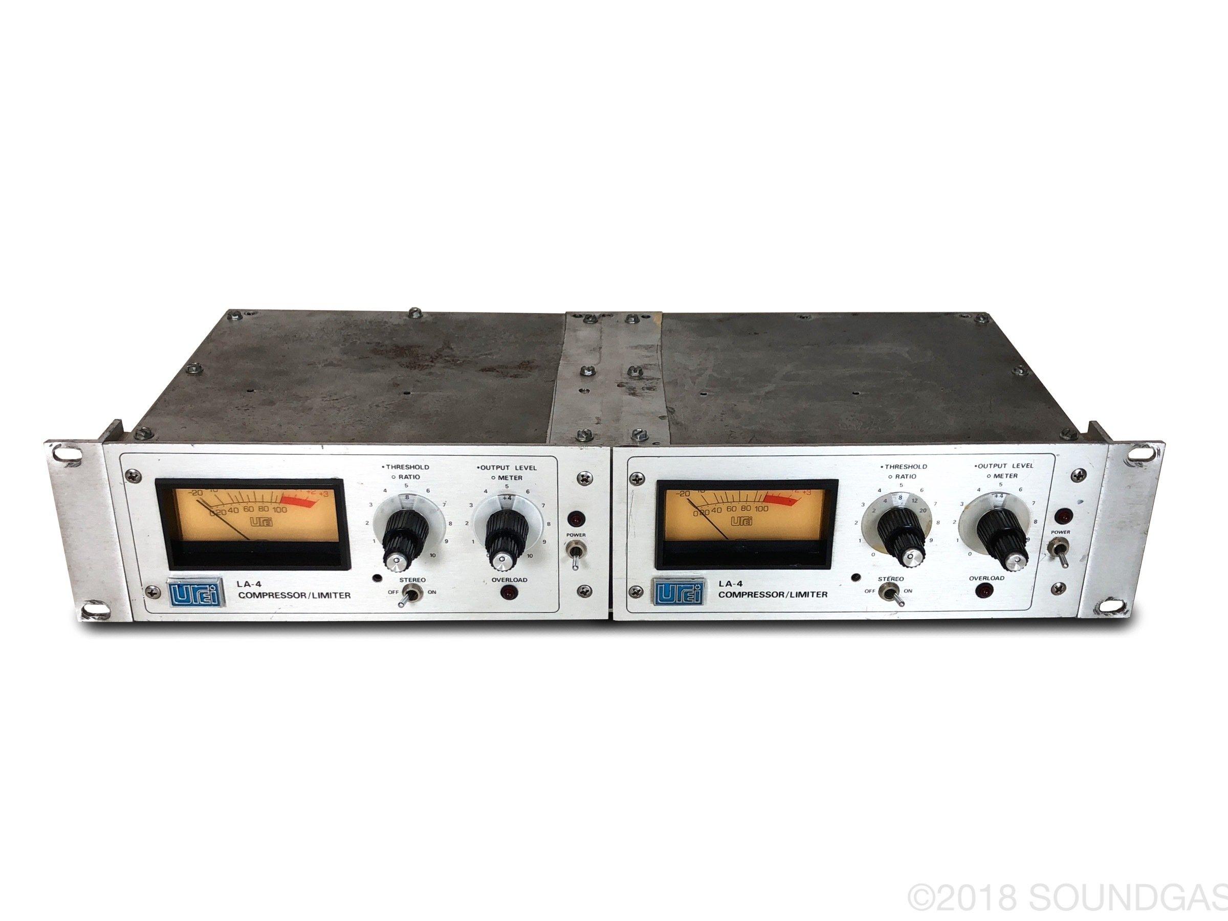 UREI LA-4 Silverface Compressor / Limiter Pair