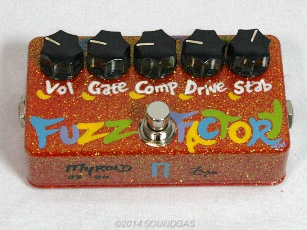 Z-VEX FUZZ FACTORY 2006 – Rare Orange Sparkle Handpainted