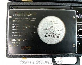 Binson Echorec 4ET disc echo -inner cover
