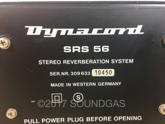 Dynacord SRS 56 Stereo Reverberation System