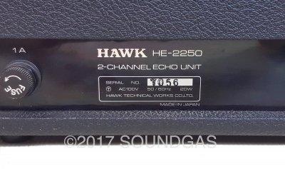 Hawk HE-2250 5-Head/2-Channel Echo Unit