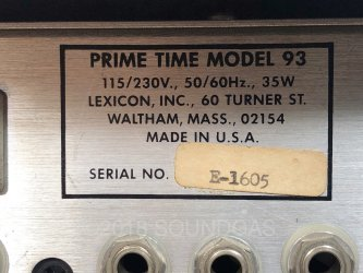 Lexicon Prime Time Model 93 Digital Delay