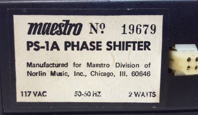 Maestro PS-1A Phase Shifter