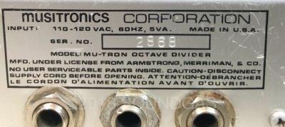 Musitronics Mu-Tron Octave Divider
