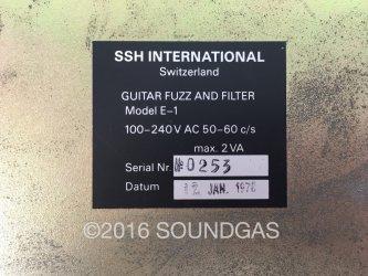 SSH International Guitar Fuzz and Filter E-1