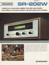 pioneer sr202w spring reverb retro advert 2