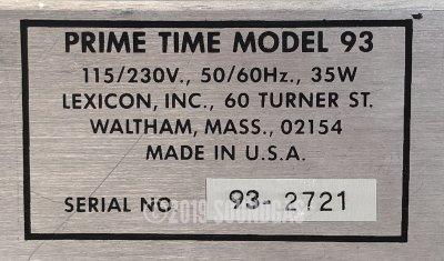 Lexicon Prime Time Model 93 Digital Delay