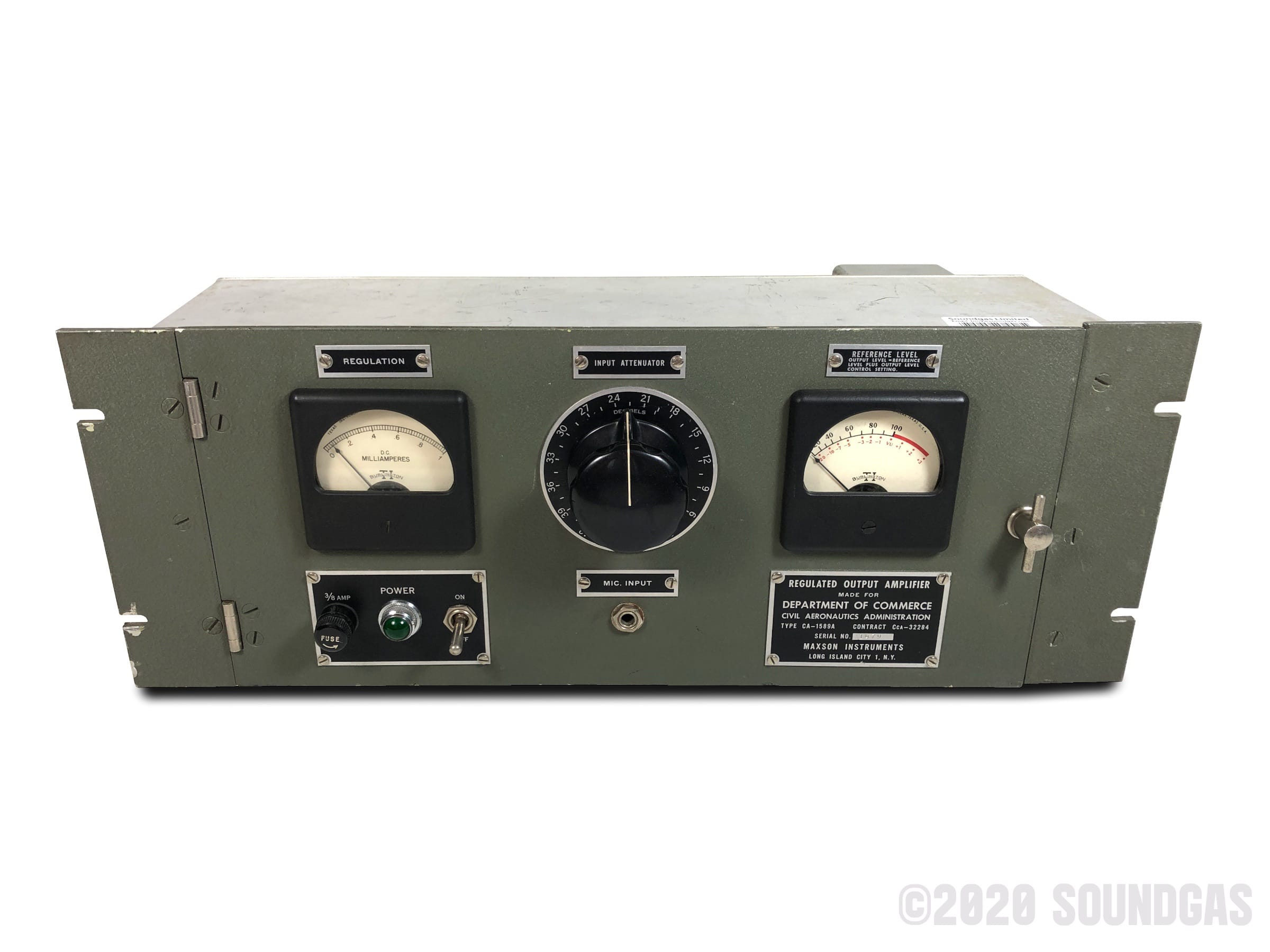 Department-Of-Commerce-CA189A-Regulated-Output-Amplifier-160320-Cover-2