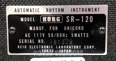 Korg SR-120 (Mini Pops)