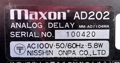 Maxon (Ibanez) AD202 Analog Delay
