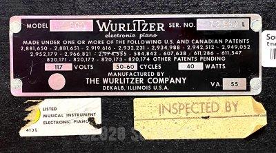 Wurlitzer Model 200 Electric Piano