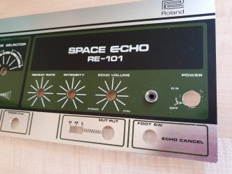 RE-101 Space Echo Front Panel