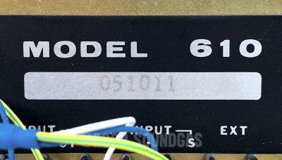 Spectra Sonics Model 610 Complimiter