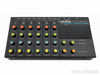 Boss-BX-600-6-Channel-Stereo-Mixer-SN843687-Cover-2