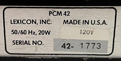 Lexicon PCM 42