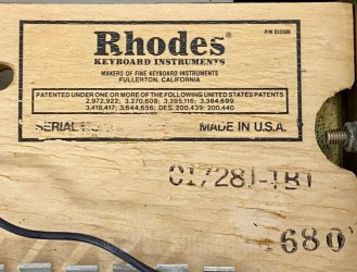 Rhodes Stage Fifty Four Mk2