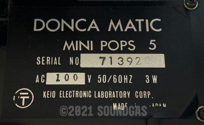 Keio/Korg Mini Pops 5